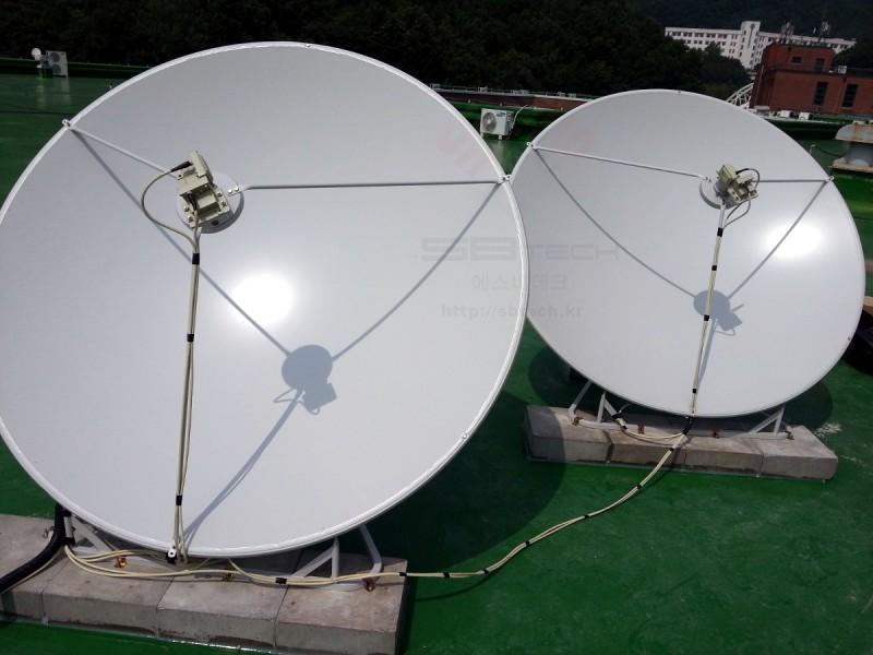한국외국어대학교 용인 위성안테나 시설 예제  1.6m 위성안테나  75Cm 위성안테나  에스비테크  httpsbtech.kr