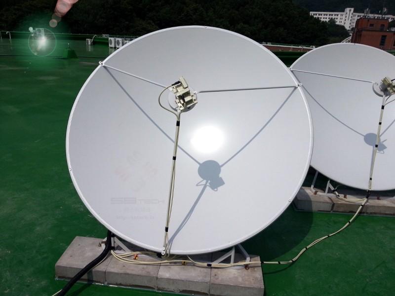 한국외국어대학교 용인 TVRO 시스템 1  1.6m 위성안테나  75Cm 위성안테나  에스비테크  httpsbtech.kr