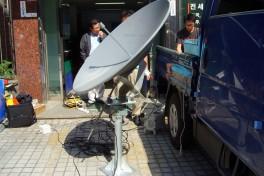 1.2m Ku-band Satellite Antenna with Positioner  카세그레인 안테나  1.2m Ku-band 포지셔너 안테나  하이게인 시험 의뢰  Cassegrain Antenna 에스비테크  httpsbtech.kr