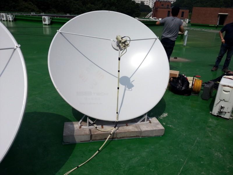 한국외국어대학교 용인 TVRO 시스템 2  1.6m 위성안테나  75Cm 위성안테나  에스비테크  httpsbtech.kr