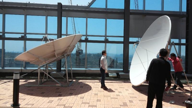 중앙방송 위성시스템 공사 현장  3.2m 위성안테나  4.2m 위성안테나  에스비테크  httpsbtech.kr