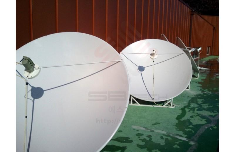 1.8m 위성안테나  1.6m 위성안테나  대전 KAIST  C-band LNBF  C-band OCS LNBF  에스비테크  SBTech  httpsbtech.kr
