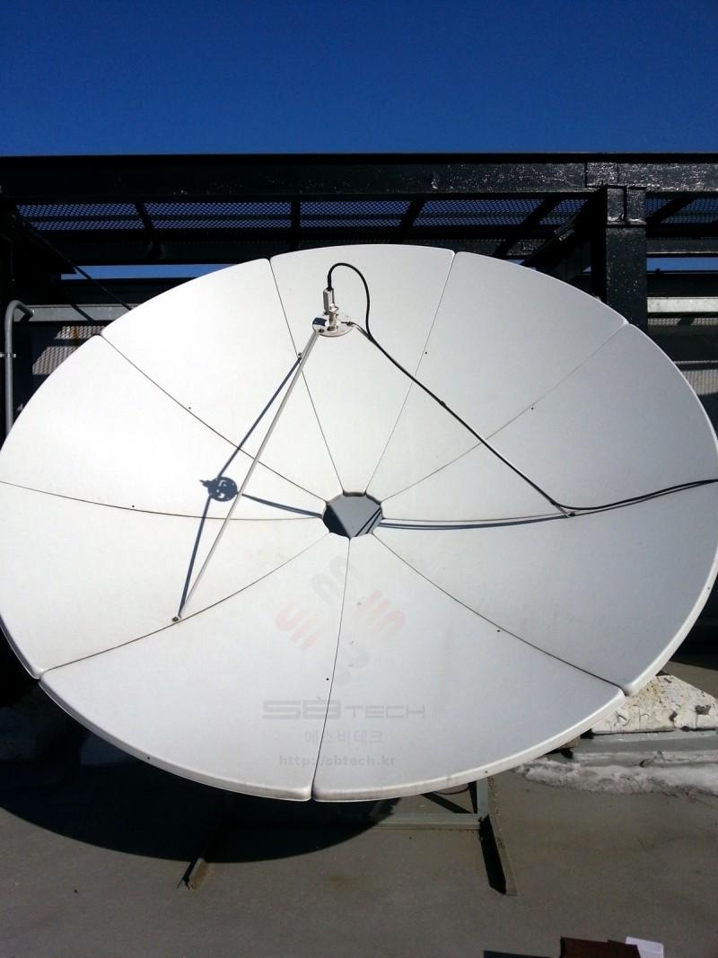 3.2m 위성안테나 정면  프라자호텔 위성시스템  에스비테크  httpsbtech.kr