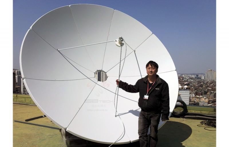 3.2m 위성안테나  프라임 포커스형  위성안테나  안테나베이스  에스비테크  SBTech  httpsbtech.kr