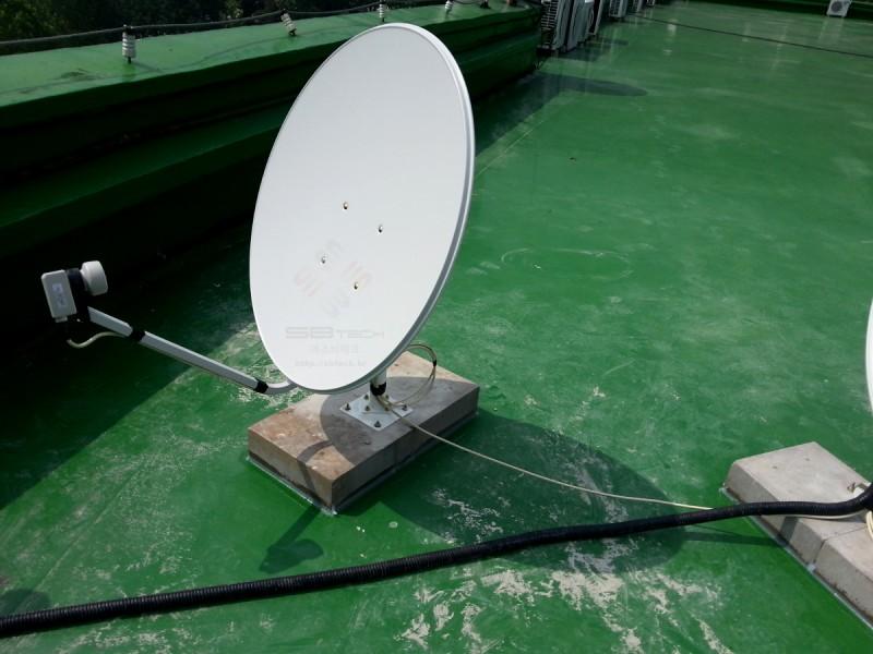 한국외국어대학교 용인 TVRO 시스템 3  1.6m 위성안테나  75Cm 위성안테나  에스비테크  httpsbtech.kr