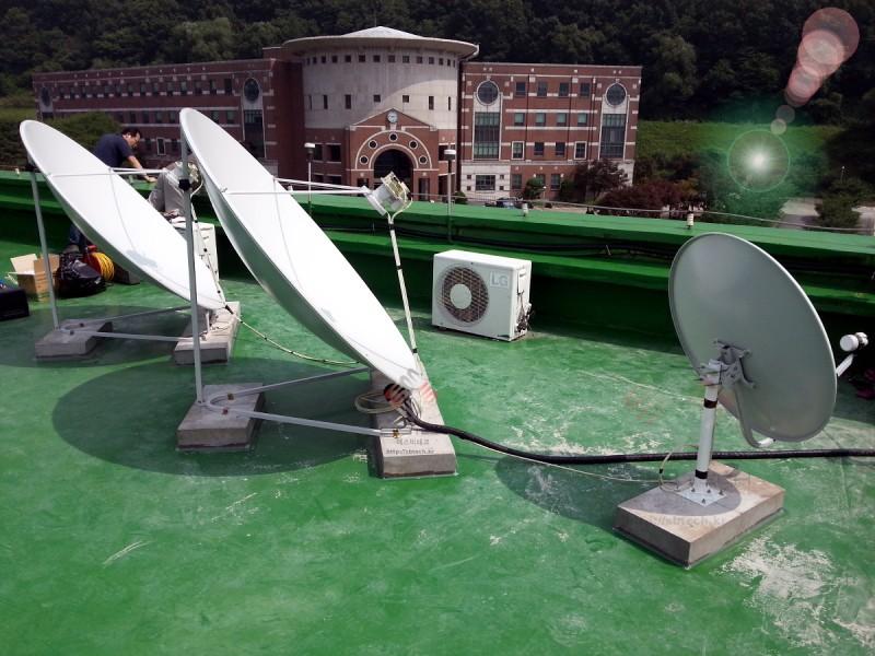한국외국어대학교 용인 TVRO 시스템  1.6m 위성안테나  75Cm 위성안테나  에스비테크  httpsbtech.kr
