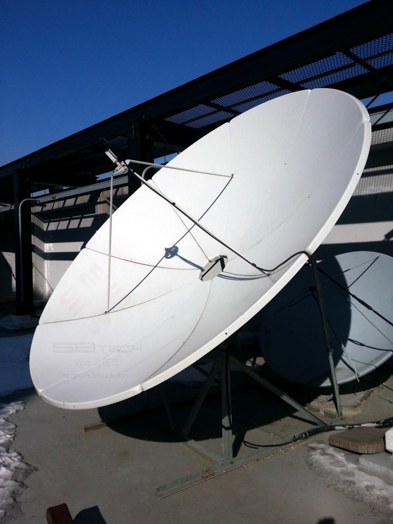 3.2m 위성안테나  서울 프라자호텔 위성시스템  에스비테크  httpsbtech.kr