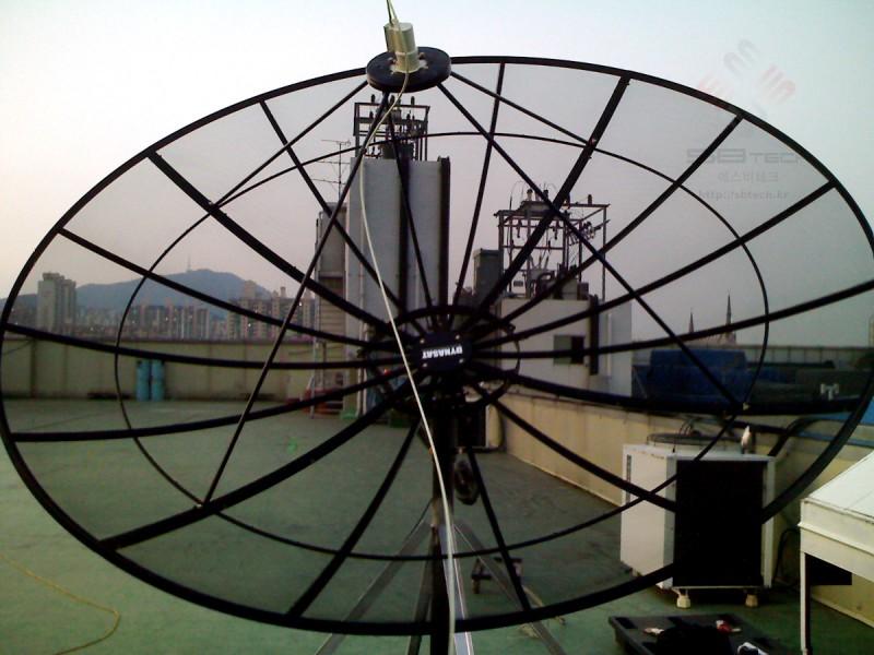 포지셔너 위성안테나  3m 그물망 안테나  엑츄에이터  에스비테크  httpsbtech.kr