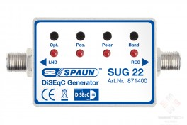 SUG 22  DiSEqC Generator  To convert the standard switching commands 14  18V 0  22KHz into DiSEqC 1.0 commands  SPAUN   www.sbtech.kr
